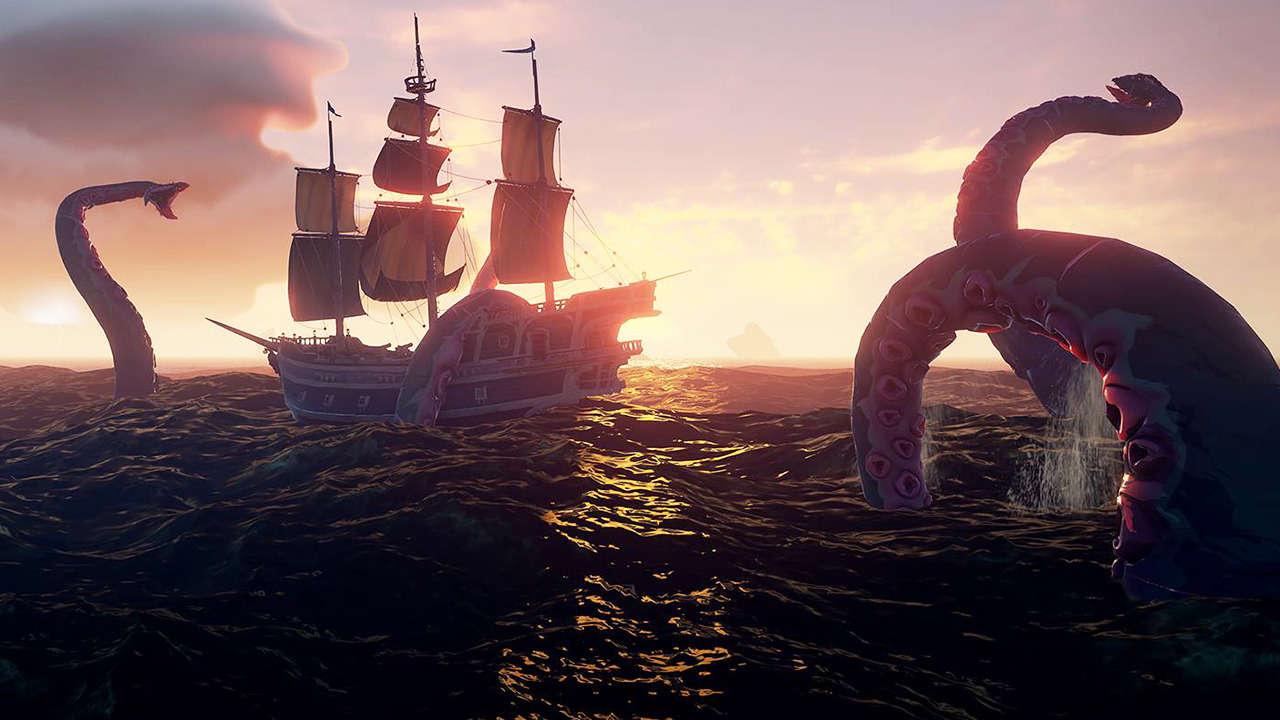 sea of thieves kraken fight